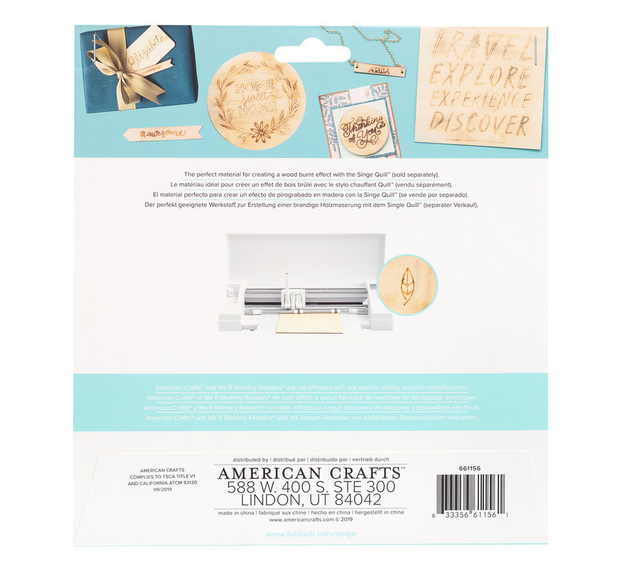 Singe Quill  Wood Sheets (3pk)