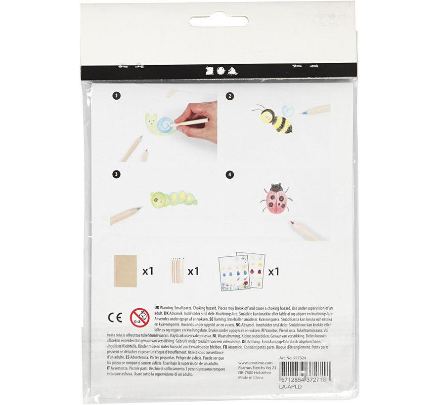 Mini Creative Set: tekenen en schilderen - insecten