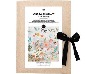 Rico Chalk Art Sjabloon: HELLO FLOWERS