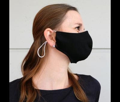 Mondmasker wit of zwart met plaats voor filter