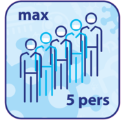 "(Vloer)sticker afgerond ""MAX ... PERS"""