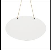 Ovalen bord (met touw)