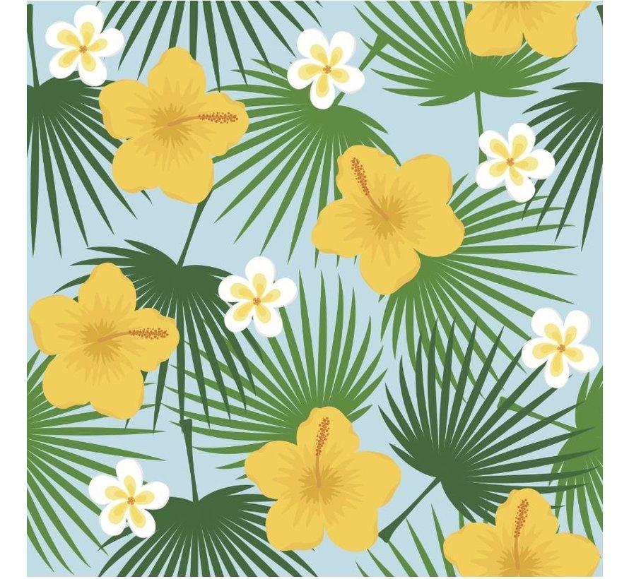 Tropical Yellow Hibiscus