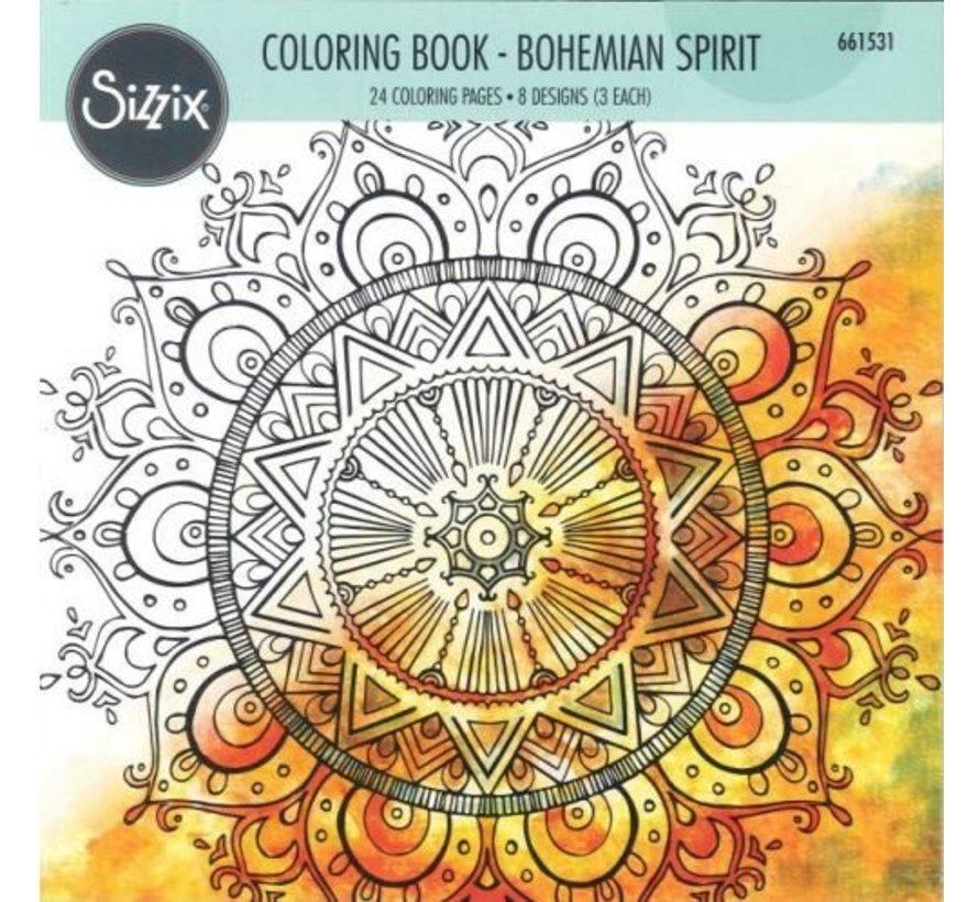 Coloring book by Lindsey Serata, Bohemia Spirit