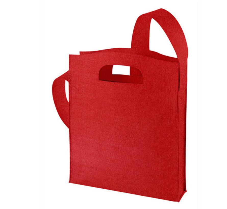 Luxe Vilt tas (Red)