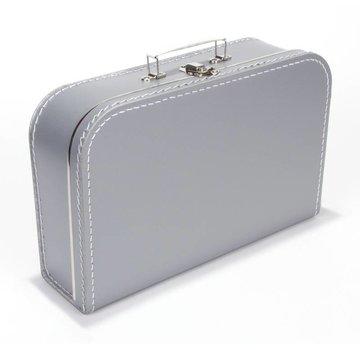 Koffer- 35 cm- zilver