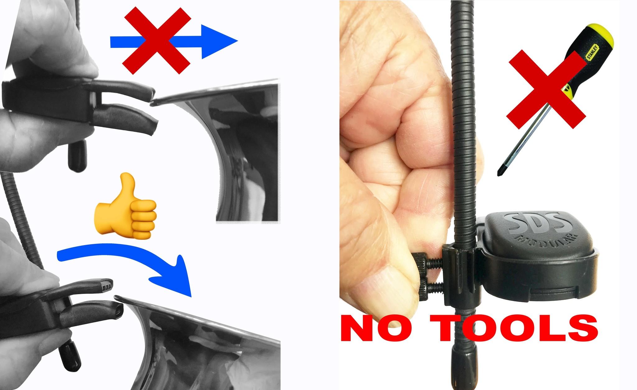 Screws (big) to fix our (CLO) clamp to the gooseneck