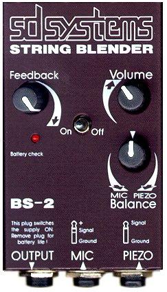 Bass system: Mic + Blender + PU4 Piëzo's
