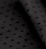 Single jersey stretch 40/1 grey with black dots