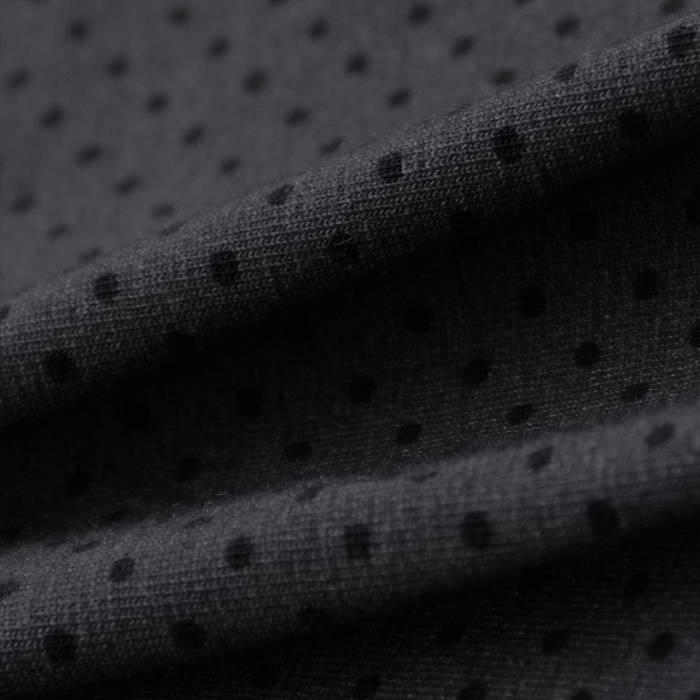 Single Jersey Stretch 40/1 grau mit schwarzen Punkten