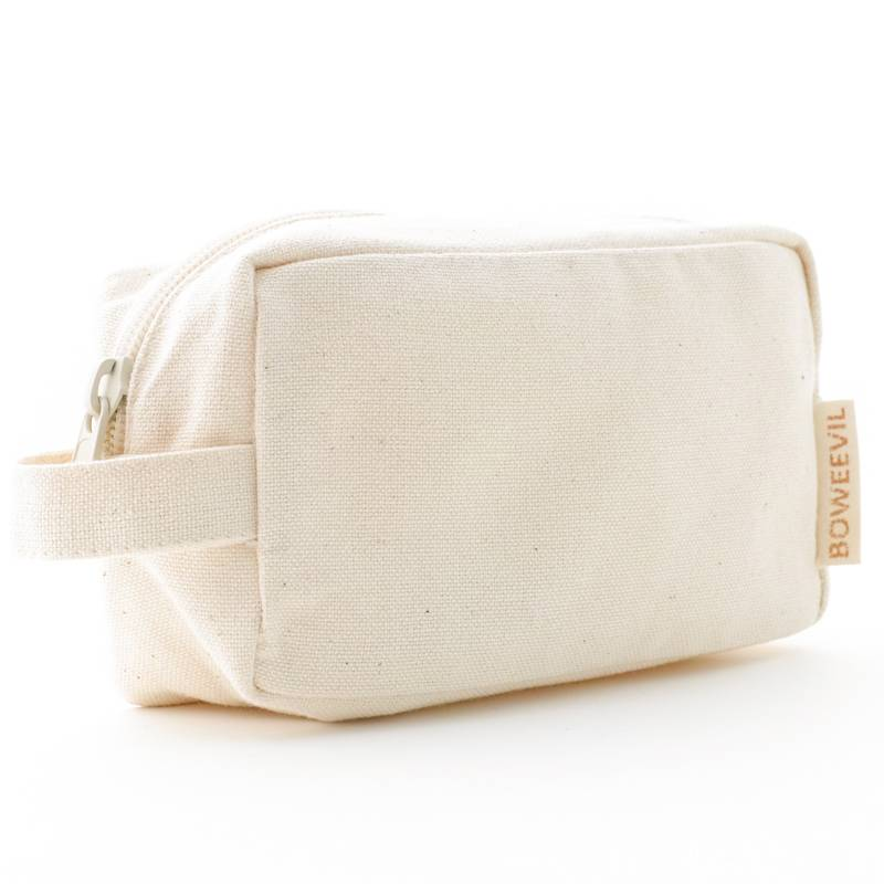 Toiletry bag rectangle S - natural white