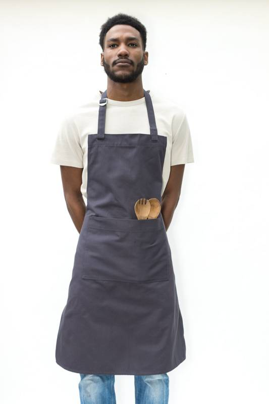 Apron - light canvas - anthracite