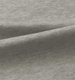 stof Single-Stretch-Jersey 30/1 heavy grau meliert