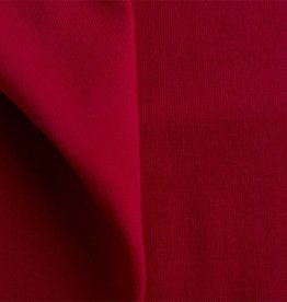 Boordstof 1x1 / ribtricot  tango red