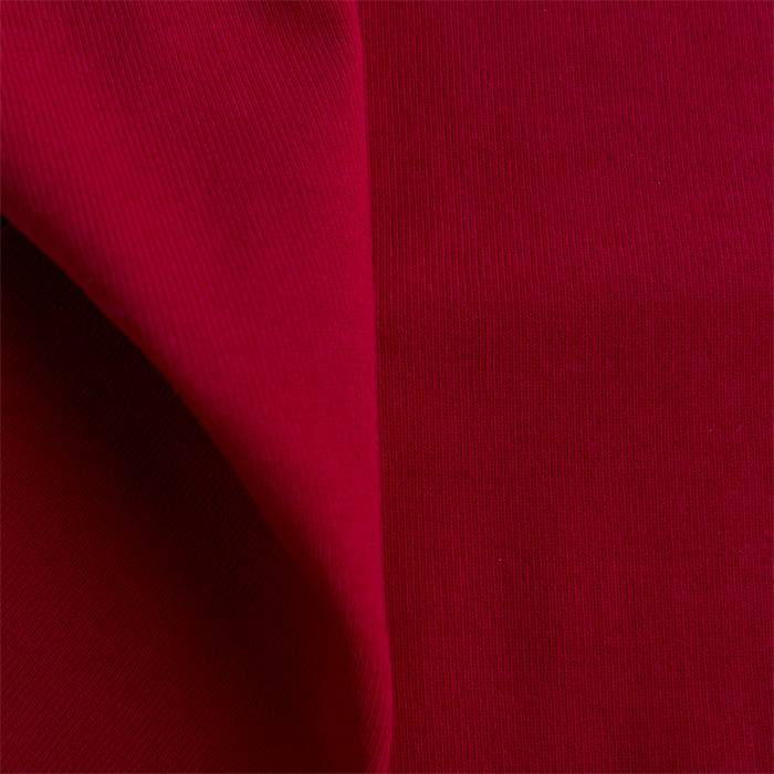 Boordstof 1x1 tango red / ribtricot