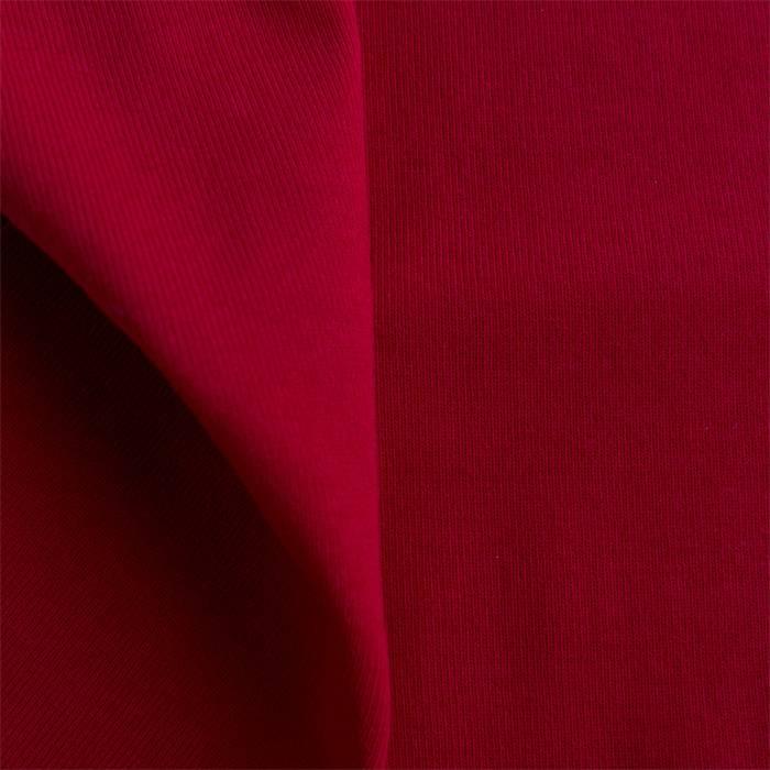 stof Boordstof 1x1 / ribtricot  tango red