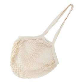 Granny's string bag with long handles - natural white