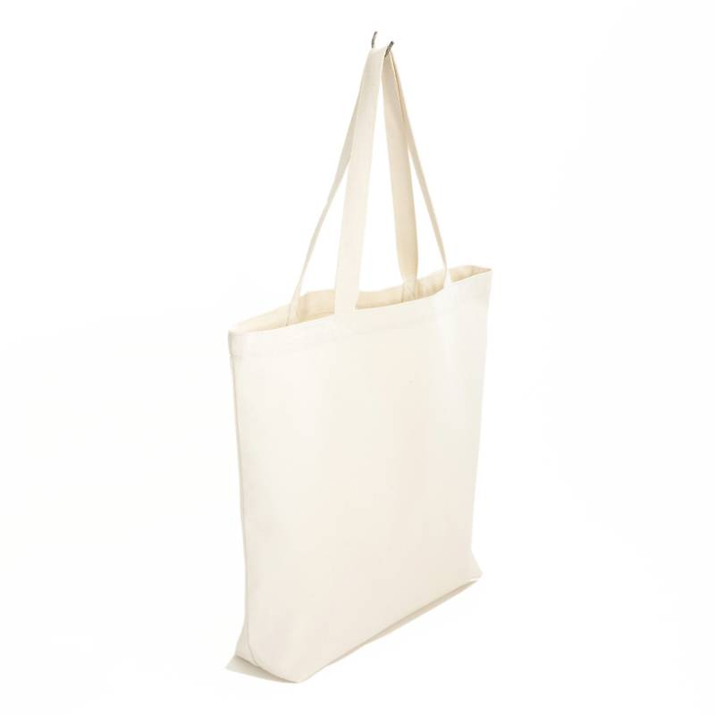 Shopper canvas - 46x42cm - white label