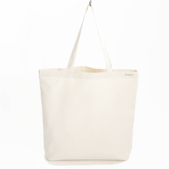 Shopper canvas - natural white - 46x42cm