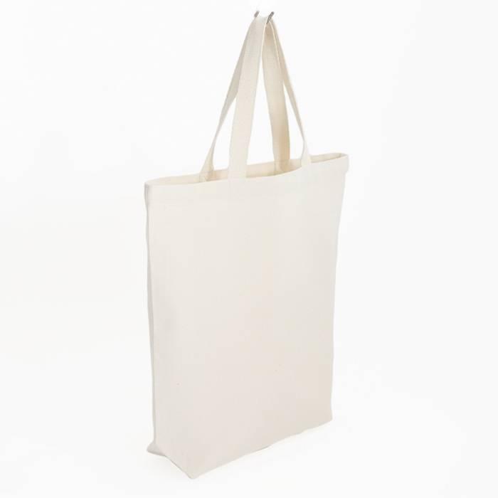 City bag - met wit contraststiksel - 38x41cm - zonder label