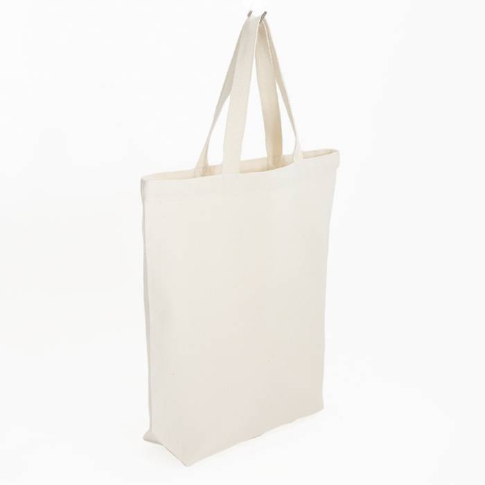 Canvas bag with white contrast stitching 38x41cm