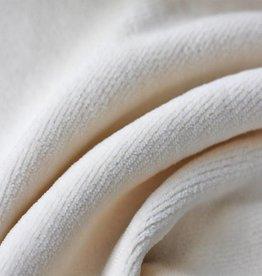 stof Nicky velour natural white