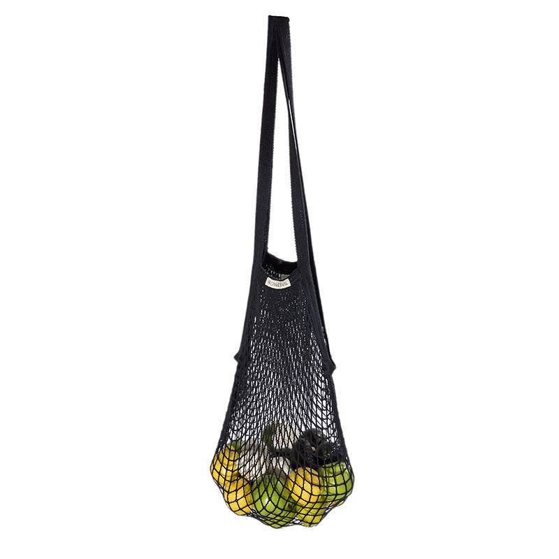 Granny's string bag with long handles - Black