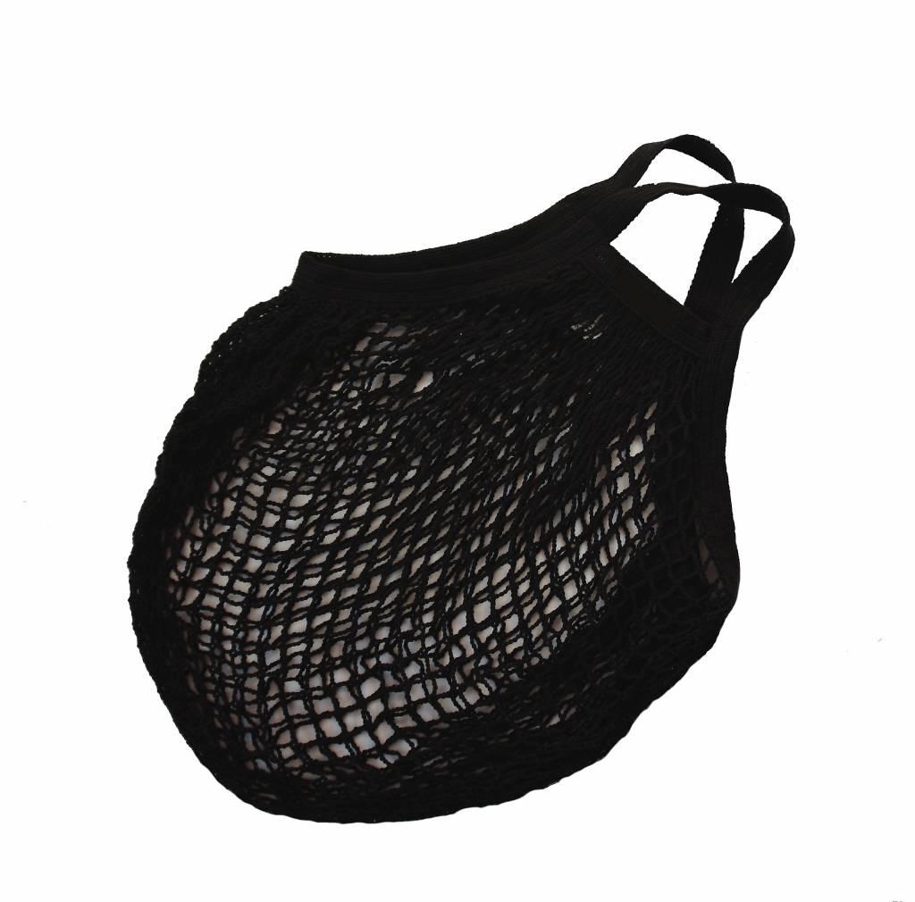 Omas Einkaufsnetz schwarz - ohne Label