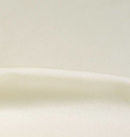Wristfabric 1x1 optical white with elasthan