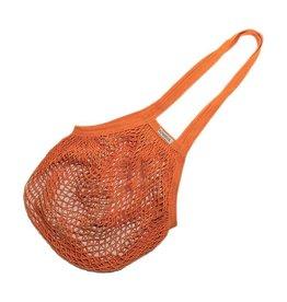Oma Einkaufsnetz mit langen Henkeln - orange