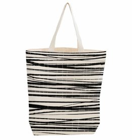 City bag  met binnenzakje 'wrapping stripes'