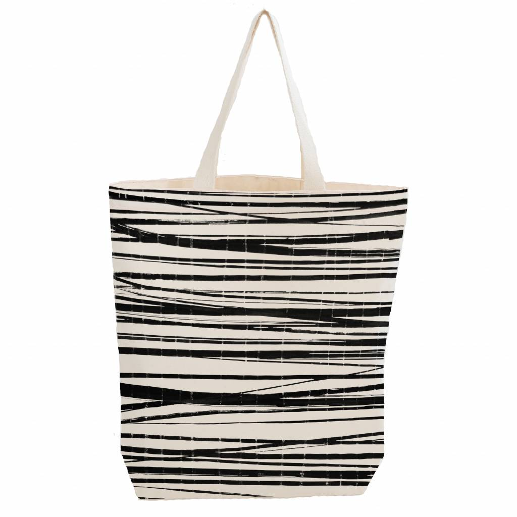 City bag with inner pocket 'wrapping stripes'