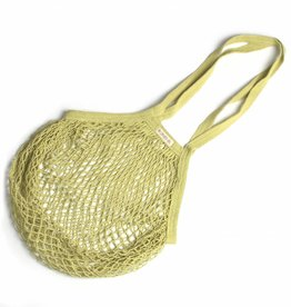 String bag with long handles - lime