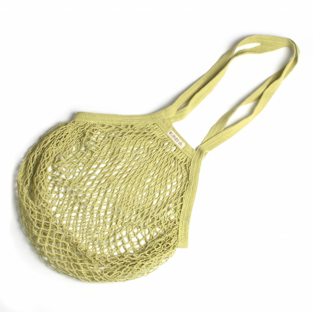 Granny's string bag with long handles - lime