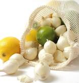 Groente- of fruitzakje S - 25x20cm - katoenen mesh