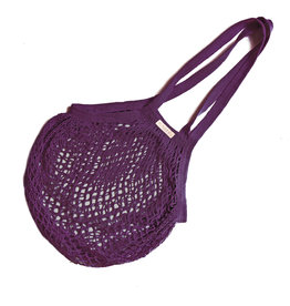 String bag with long handles - purple