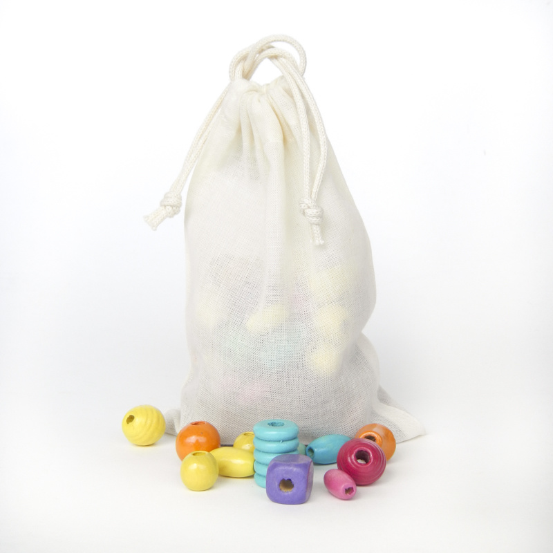 Voile bag XS - 10x15cm with double draw string