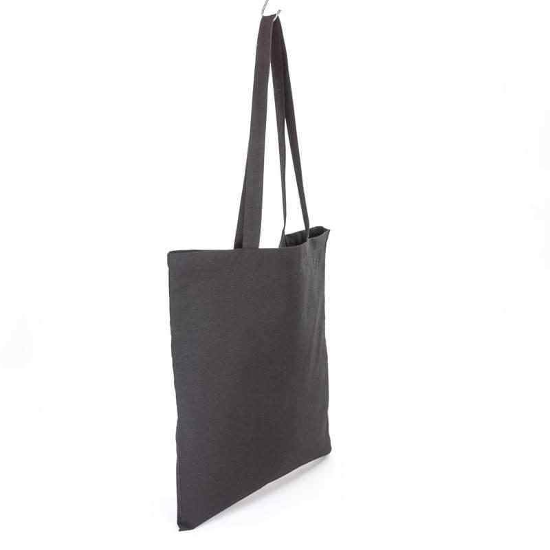 Tote zwart - met lange hengsels - 38x42cm - zonder label