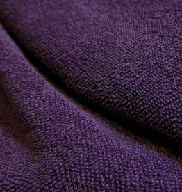 Badstof gebreid - diep paars
