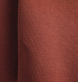 Boordstof 1x1 ribtricot met elastaan - potter's clay