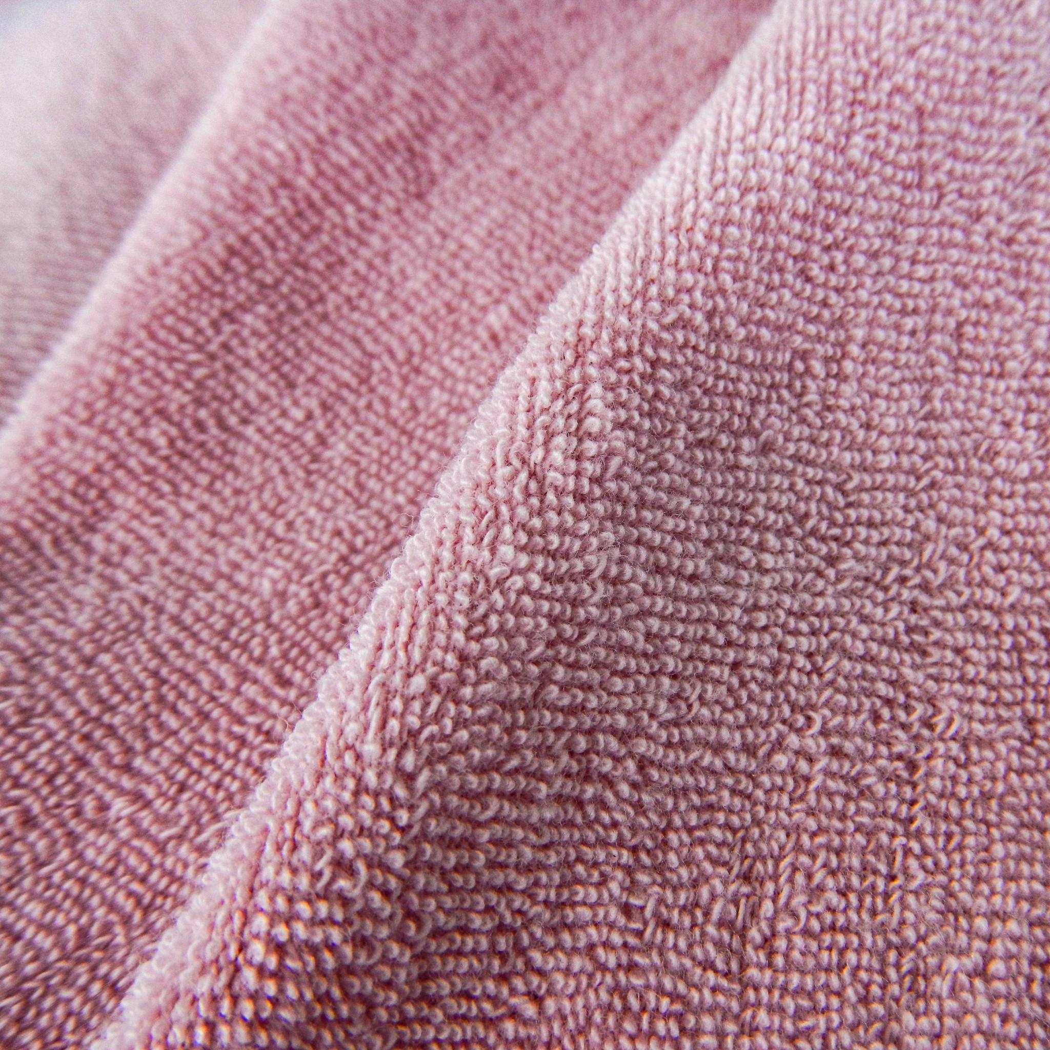 Gestrickte Frottewaren - rosa