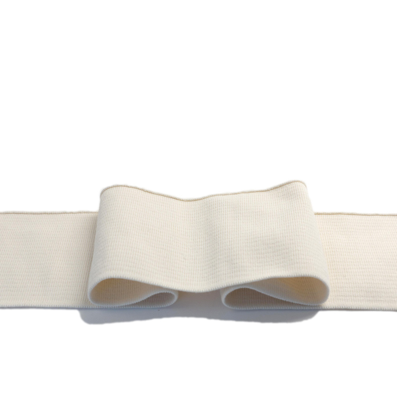 Cuffs ready-to-use with 5% elasthan - natural white