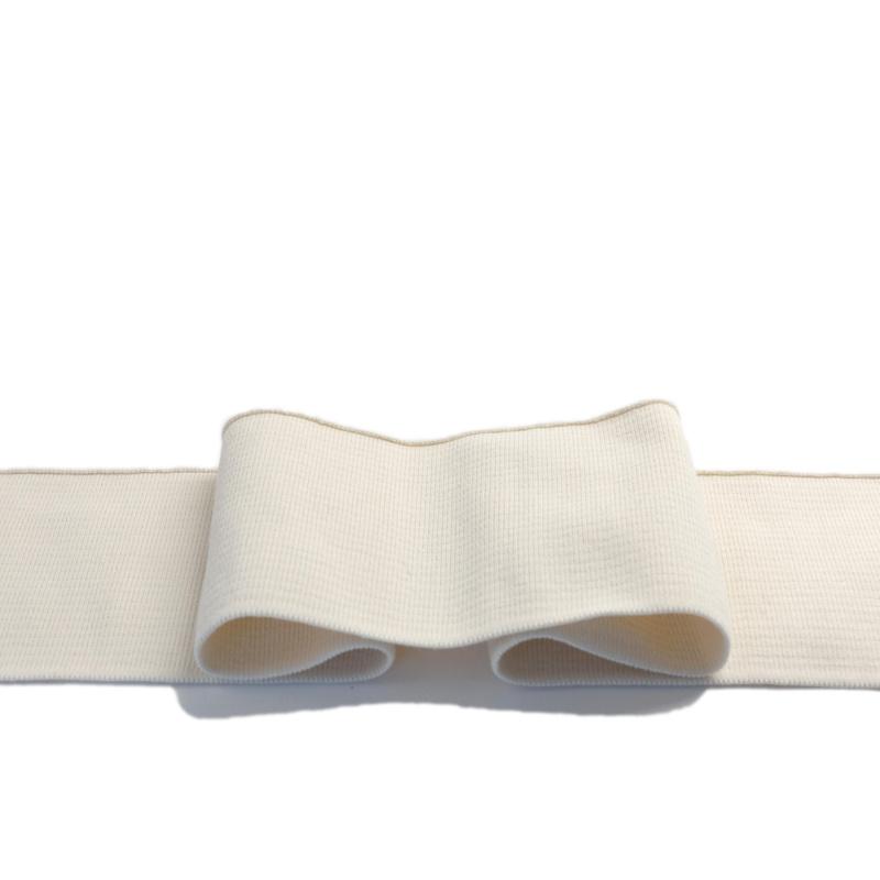 Gebrauchsfertige Manschetten mit 5% Elasthan - naturweiß