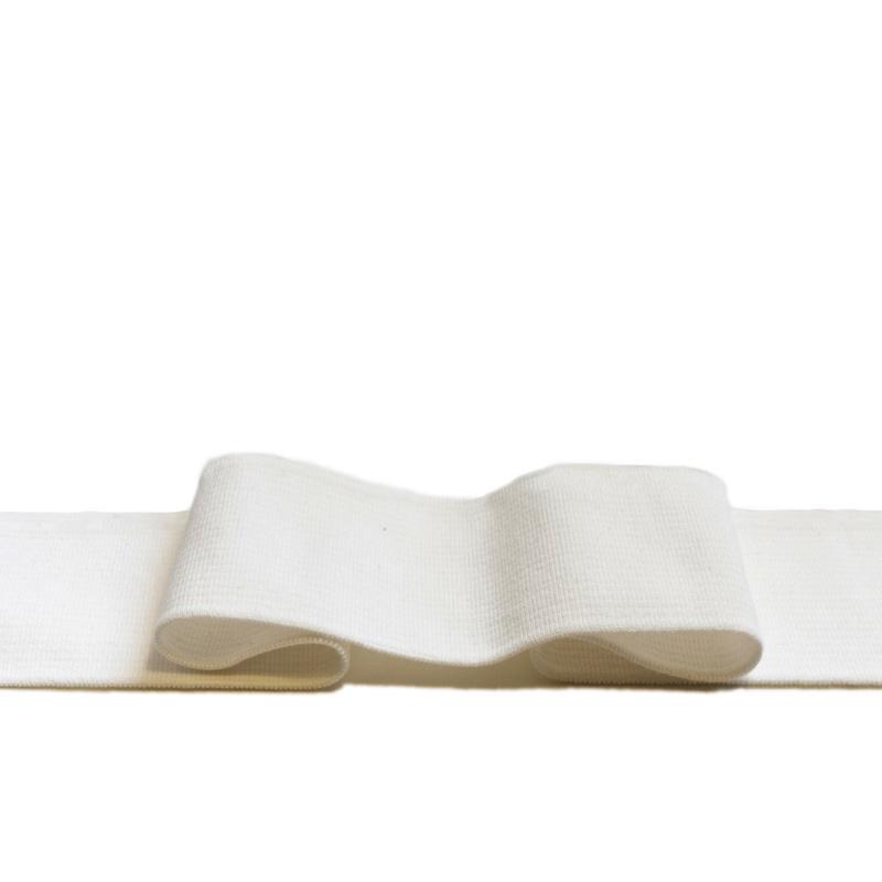 Kant en klare boord 1x1 ribtricot met 5% elastaan - off-white