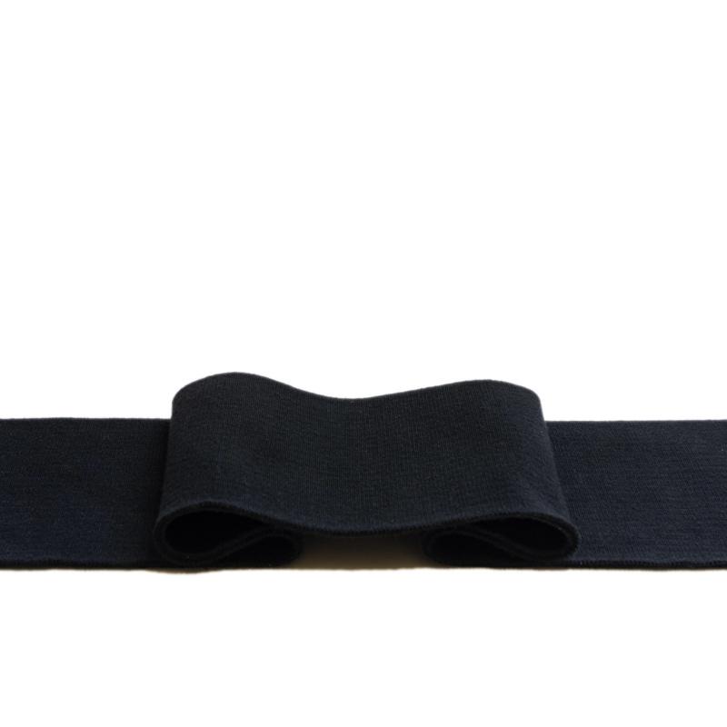 Kant en klare boord 1x1 ribtricot met 5% elastaan - zwart