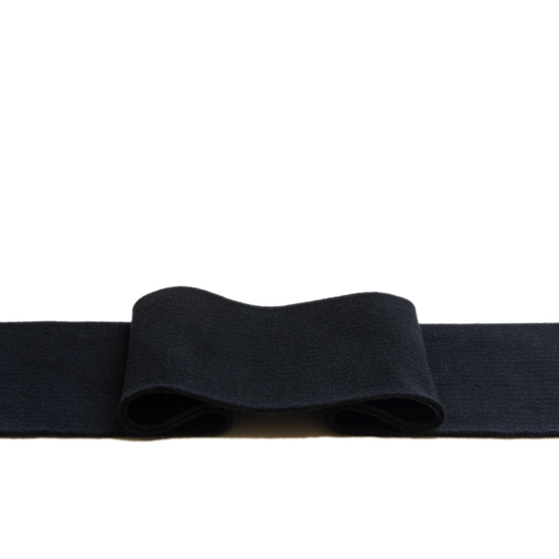 Kant en klare boorden 1x1 ribtricot met 5% elastaan zwart