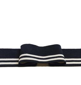 Gebrauchsfertige Manschetten -gestreift  schwarz und weiß