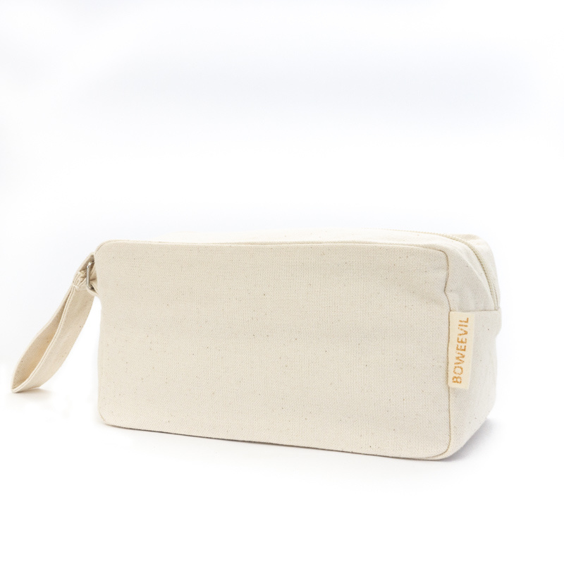 Toiletry bag rectangle M - natural white