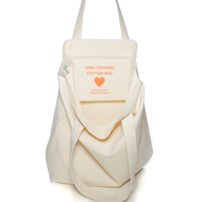 Shopper tote XL - canvas - natural white - 50x50cm