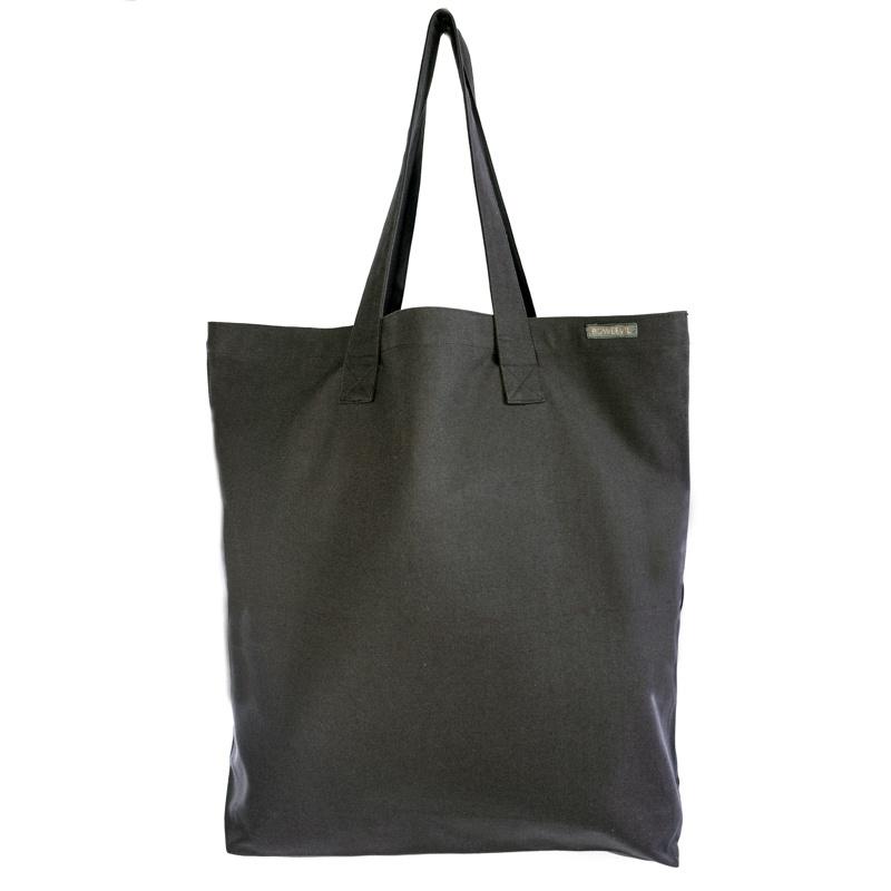 Canvas shopper tote XL - anthracite - 50 x 50cm
